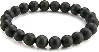 天然波罗的海琥珀串珠弹性手链,豪华礼盒 | 男士、女士和儿童(男女皆宜) 深樱桃色 XL - 8 inch wrist