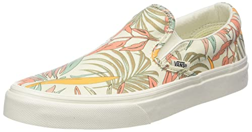c0f87719c7 Vans Unisex Classic Slip-On (California Floral) Marshmallow Marshmallow Skate  Shoe 8