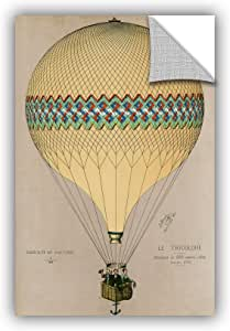 "ArtWall 1jdu001a1218p Jules jDuruof's ""The Balloon 'Le Tricolore' Ascending In 1874"" Removable Wall Art Mural, 12"" x 18"""