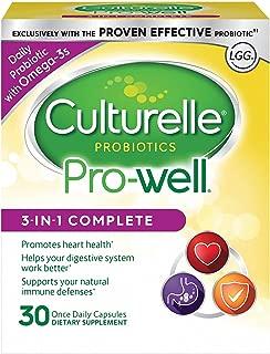 Culturelle 康萃樂 3合1每日益生菌補充劑,30粒膠囊 膳食補充劑,含有乳酸桿菌GG-研究的益生菌,加上Omega 3
