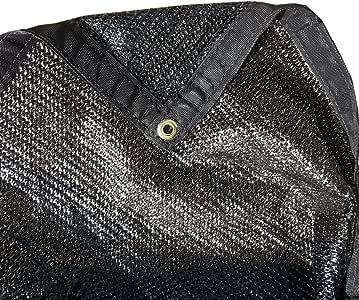 FJYW MN17-MS50-B0616 50% 遮光布,遮光面料,遮阳,帆,黑色,182.88cm x 40.64cm