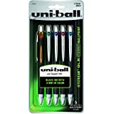 uni-ball Jetstream RT BLX Retractable Rollerball Pens, Bold Point, Assorted Colored/Black Ink, Set of 5