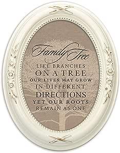 小屋花园家庭树像树枝 12.7 x 17.78 厘米椭圆形桌子和墙壁相框 Distressed Ivory Floral 5 x 7 Photo Frame SHOVFL12IV