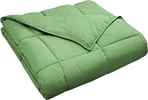 Classic All-Season Down Alternative Comforter with Baffle Box Contruction, Full/Queen, Terrace Green