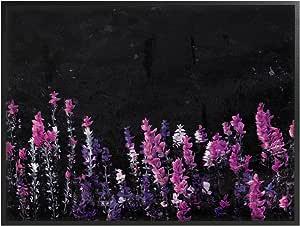 The Stupell Home 装饰系列地面上的花朵拉伸帆布壁画,多色 多种颜色 16 x 20 ccp-209_fr_16x20