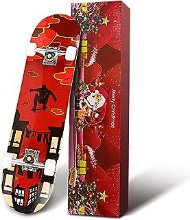 Smibie Skateboards Pro 31 英寸(约 78.7 厘米)完整滑板适合青少年初学者女孩男孩儿童成人,7 层枫木滑板