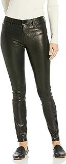 J Brand Jeans 女士中腰弹力皮革