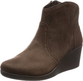 [卡骆驰] 靴子 雷伊 合成 绒面革 坡跟 羊皮