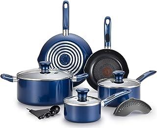 T-fal Excite 不粘锅 Thermo-Spot 洗碗机 *烤箱 炊具 蓝色 B037SE64