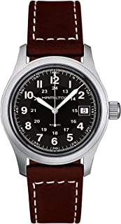 Hamilton 男士 H68411533 Khaki Field 黑色表盘手表