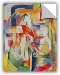 """ArtWall Franz Marc's Elephant Horse and Cow Art Appeelz Removable Wall Art Graphic, 14"""" x 18"""""""
