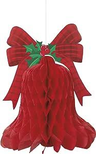 40cm 挂蜂窝红色 BELL 圣诞装饰