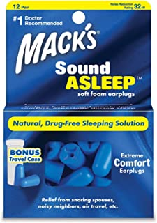 MACK'S® SoundAsleep 软泡沫耳塞(12 对)