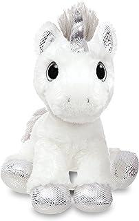 Aurora World 60855 Sparkle Tales Twilight 独角兽软玩具, 银色, 12 英寸, 适合3岁及以上儿童