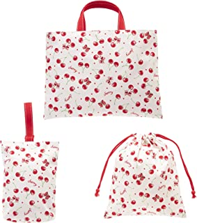 KIYOHARA 入园・入学用品 3件套 课程包・鞋盒、体操服袋 Cherry Tet 红色 MOW111-S3