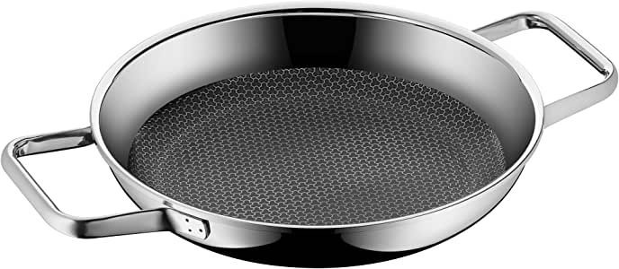 WMF 福腾宝 Profi Resist系列Ø 24cm 平底煎锅 多层涂层 蜂巢状锅底 适用于烤箱,电磁炉 黑色