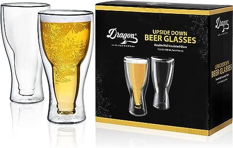 Dragon Glassware 啤酒杯 玻璃 Set of 2