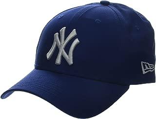 New ERA 男式 MLB 基本款 NY yankees 9forty 可调节棒球帽浅品蓝