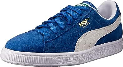 PUMA 彪马 男式 Suede Classic 低帮运动鞋 Olympian Blue/White 4