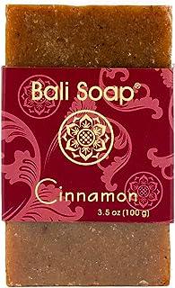 Bali 肥皂–肉桂天然香皂, FACE 或身体香皂*适合任何肤质,适用于女式,男式和少年,12支装,4盎司每