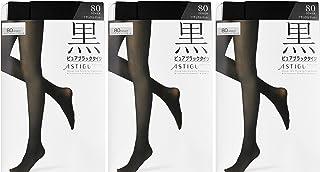 (厚木)ATSUGI 紧身裤袜 ASTIGU【黑】 黑色紧身裤袜 80D〈3双装〉 深黑色 L~LL