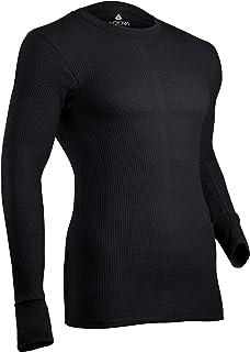 Indera 男士棉质华夫格针织重量级保暖内衣上衣