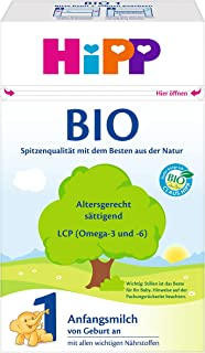 Hipp 喜宝 Bio 1段 有机婴儿配方奶粉 适合新生儿 0-6个月 4 x 600 g