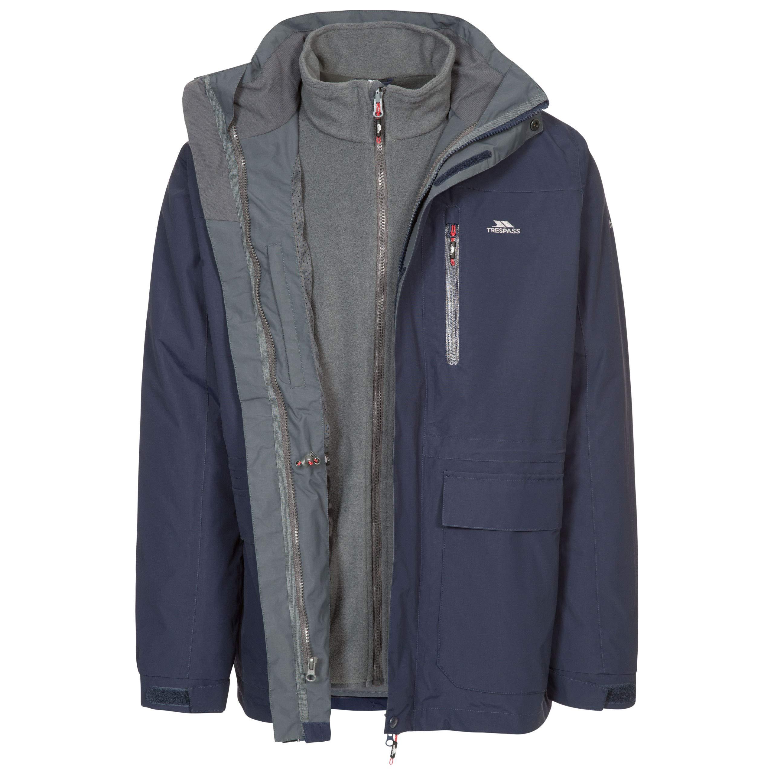 不法侵入Edwater IIトリプル防水レインコート/機能ジャケット/風と雨のジャケット、フード付き、取り外し可能なメンズ下着
