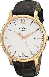 Tissot T063.610.36.037.00 男士石英手表带白色表盘模拟显示