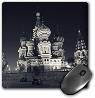 3dRose LLC 8 x 8 x 0.25 Moscow Red Square Kremlin St Basils Cathedral Walter Bibikow Mouse Pad (mp_82557_1)