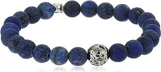 高音 Asteroid Ruthenium 镀银 哑光 Lapis 珠子 蓝色手链