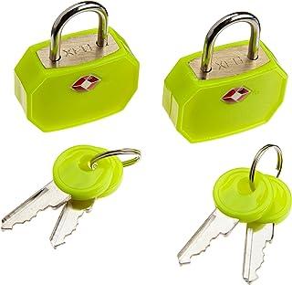 Lewis N. Clark TSA 迷你挂锁 2 件装 黄色 均码