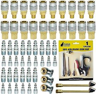 60 件重型空气快速耦合器连接器配件 1/4 NPT,空气夹头,空气除尘器