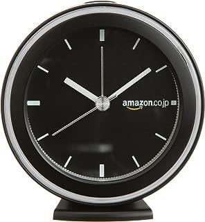 【Amazon.co.jp限定】Amazon.co.jp 标志版 闹钟 时钟 闹钟 黑色 OC227K