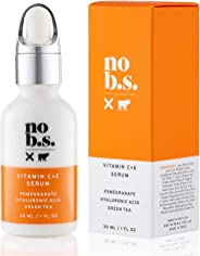 No B.S. 维生素 C 精华液 - Potent & Clean 皮肤护理。 No Hype。 不褪色。 Pure C + E 带透明质酸精华。 全套尺寸
