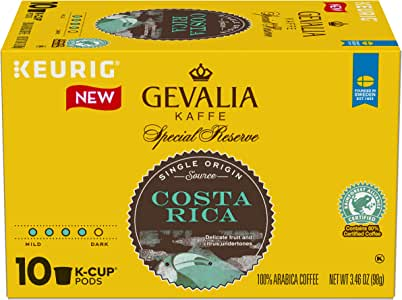Gevalia Special Reserve Coffee K-Cup Pods, Costa Rica, 3.46 Ounce