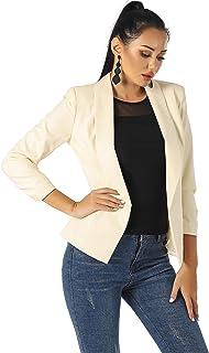 UNIQUE 21 女式七分袖外套开衫夹克工作办公室外套