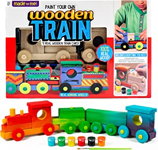Made By Me Build & Paint Your Own Wooden Cars by Horizon Group USA 72 months to 1200 months 木制火车