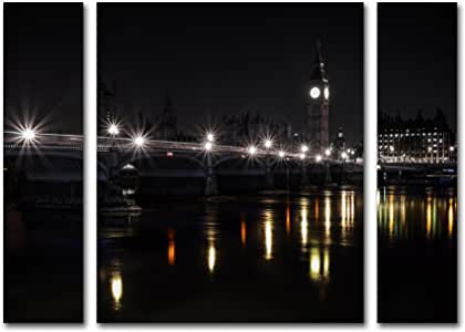 Trademark Fine Art ALI0029-3PC-SET-SM Bill In by Giuseppe Torre Large Three Panel Set ALI0029-3PC-SET-LG