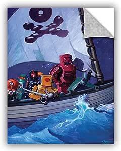 "ArtWall Eric Joyner's Rob Pirates Art Appeelz Removable Graphic Wall Art, 14 x 18"""