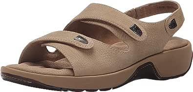 Softwalk 女士 Bolivia 坡跟凉鞋 Sand Tumbled Nubuck 5.5 M US