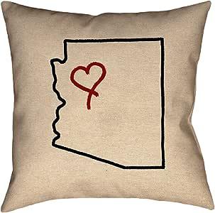 ArtVerse Katelyn Smith 亚利桑那爱 40.64cm x 40.64cm Pillow-Poly Twill 双面印花,隐形拉链和嵌片