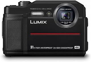 Panasonic DMC-FT7EB-K 堅固緊湊相機(31米防水)帶 EVF,20MP 高靈敏度傳感器和 4K 視頻/4K 光/柱聚焦 - 黑色
