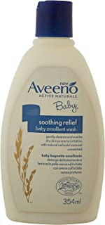 Aveeno Baby Soothing Relief Emollient Wash 354 ml—海外卖家直邮