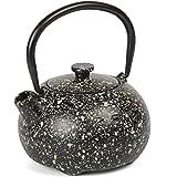 Creative Home 73474 Kyusu 铸铁茶壶,10 盎司 黑色/灰色 12盎司 73522
