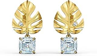 Swarovski 施华洛世奇女式白色金色镀热带叶子耳环 5519253