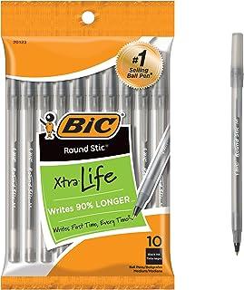 BIC 比克 Round Stic Xtra Life 圆珠笔,中号笔头