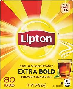 Lipton 茶,特大胆杯,80 支,5 件装