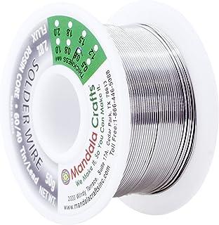 松香芯电焊线,电子,连接器,PCB 焊接;Mandala Crafts 出品 50g 0.6mm Lead Free Solder