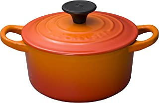 Le Creuset 酷彩 搪瓷锅 Cocotte Rondo 橙色 燃气 IH 烤箱兼容 14厘米